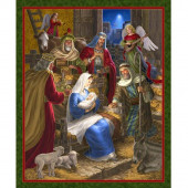 Rejoice Mary Three Wise Men Bethlehem Christmas Quilting Fabric Panel