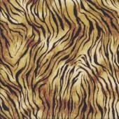 Tiger Pattern African Animal Wildlife Safari Quilting Fabric
