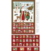 A Time of Wonder Christmas Santa Advent Calendar Quilting Fabric Panel