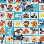 Timmy Time Shaun The Sheep Girls Boys Kids Licensed Fabric