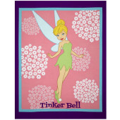 Tinkerbell Fairy Flowers Girls Quilting Fabric Panel