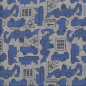 Tonka Tough Road Work Ahead Boys Kids Licensed Quilting Fabric