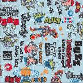 Toy Story Buzz Lightyear Mr and Mrs Potato Head Fabric