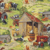 Farm Tractors Quilting Fabric