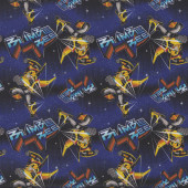 Transformers Bumblebee on Blue Kids Licensed Quilting Fabric