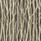 Bare Tree Trunks on Brown Quilting Fabric