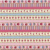 Cupcakes Tea Time Cup Cakes Border Kitchen Quilt Fabric