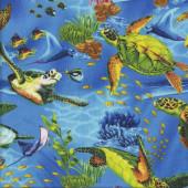 Turtles Ocean Coral Fish Stingray Sea Quilting Fabric