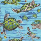 Sea Turtles Wildlife Water Ocean Fish Nature Quilting Fabric