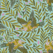 Tula Pink Birds Re Tweet Starlet Green Quilting Fabric