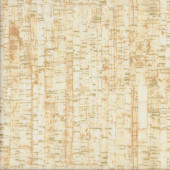 Uncorked Sandalwood Cork Lookalike with Gold Metallic Tonal Quilting Fabric
