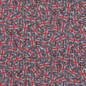 Union Jack Flags British U.K England Quilting Fabric
