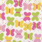 Butterflies Pastel Colours Urban Zoologie Ann Kelle Quilt Fabric