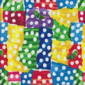 Hungry Caterpillar Spots Quilting Fabric