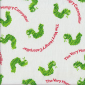 Hungry Green Caterpillars Quilting Fabric