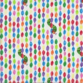 Very Hungry Caterpillar Colourful Beads Licensed Quilting Fabric