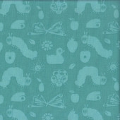 The Very Hungry Caterpillar Friends Green 50th Anniversary Kids Quilting Fabric