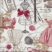 Vintage Sewing Machines Quilting Fabric
