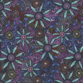 Walkabout Bush Potato Purple Quilting Fabric