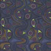 Aboriginal Walkabout River Quilting Fabric