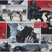 The Walking Dead Lady Sword Boys Girls Kids Licensed Quilt Fabric