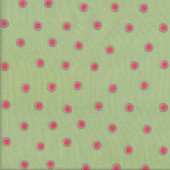 Tiny Watermelons on Green Quilting Fabric