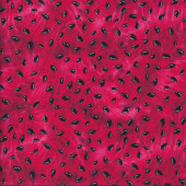 Watermelon Seeds on Red Fruit Kitchen Quilting Fabric