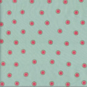 Tiny Watermelons on Pastel Green Quilting Fabric