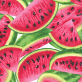 Watermelon Fruit Large Slices Quilt Fabric