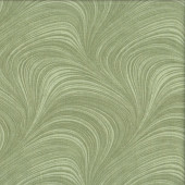 Green Wave Texture Marble Blender Quilting Fabric