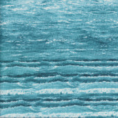 Waves Ocean Rolling Surf Water Beach Landscape Quilting Fabric