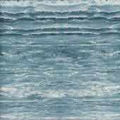 Waves Ocean Rolling Surf Water Beach Nature Quilting Fabric