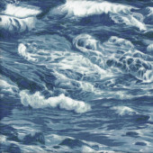 Ocean Waves Water Sea Surf Nature Landscape Quilt Fabric