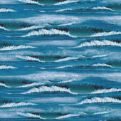 Waves Surf Ocean Nature Landscape Quilt Fabric