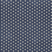 White stars on Navy Blue Quilting Fabric