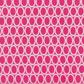 White Ovals on Pink Remix Quilt Fabric