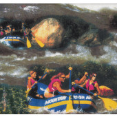 White Water Rafting Rapids Sport Quilt Fabric