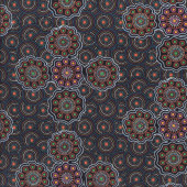 Australian Indigenous Aboriginal Wild Fruits Blue By Jocelyn Bird Quilt Fabric