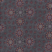 Australian Indigenous Aboriginal Wild Fruits Gold By Jocelyn Bird Quilt Fabric