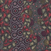 Australian Indigenous Aboriginal Wild Seed Black by T. Price Nangala Quilting Fabric