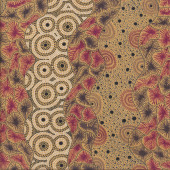 Australian Indigenous Aboriginal Wildseed by T. Price Nangala Quilting Fabric