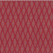 Aboriginal Australian Wilgarup Diamond Design on Red Quilting Fabric
