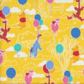 Winnie The Pooh Piglet Tigger Eeyore Kids Licensed Fabric