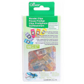 Wonder Clips 50 Assorted Colours Clover Brand with Plastic Container