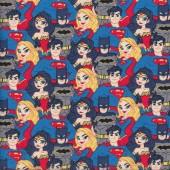 Superman Batman Wonder Woman Supergirl Justice League Quilting Fabric