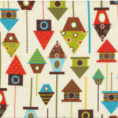 Bird Houses Urban Zoologie Ann Kelle Quilt Fabric
