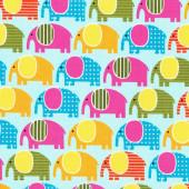 Elephants on Blue Urban Zoologie Ann Kelle Quilt Fabric