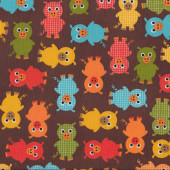 Pigs on Brown Urban Zoologie Ann Kelle Quilting Fabric