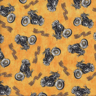 Motorcycles Biker For Life Quilting Fabric