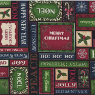 Merry Christmas Greetings Peace Jolly Elegance